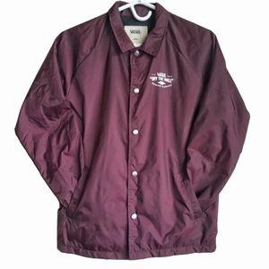 VANS Burgundy Nylon Windbreaker Jacket